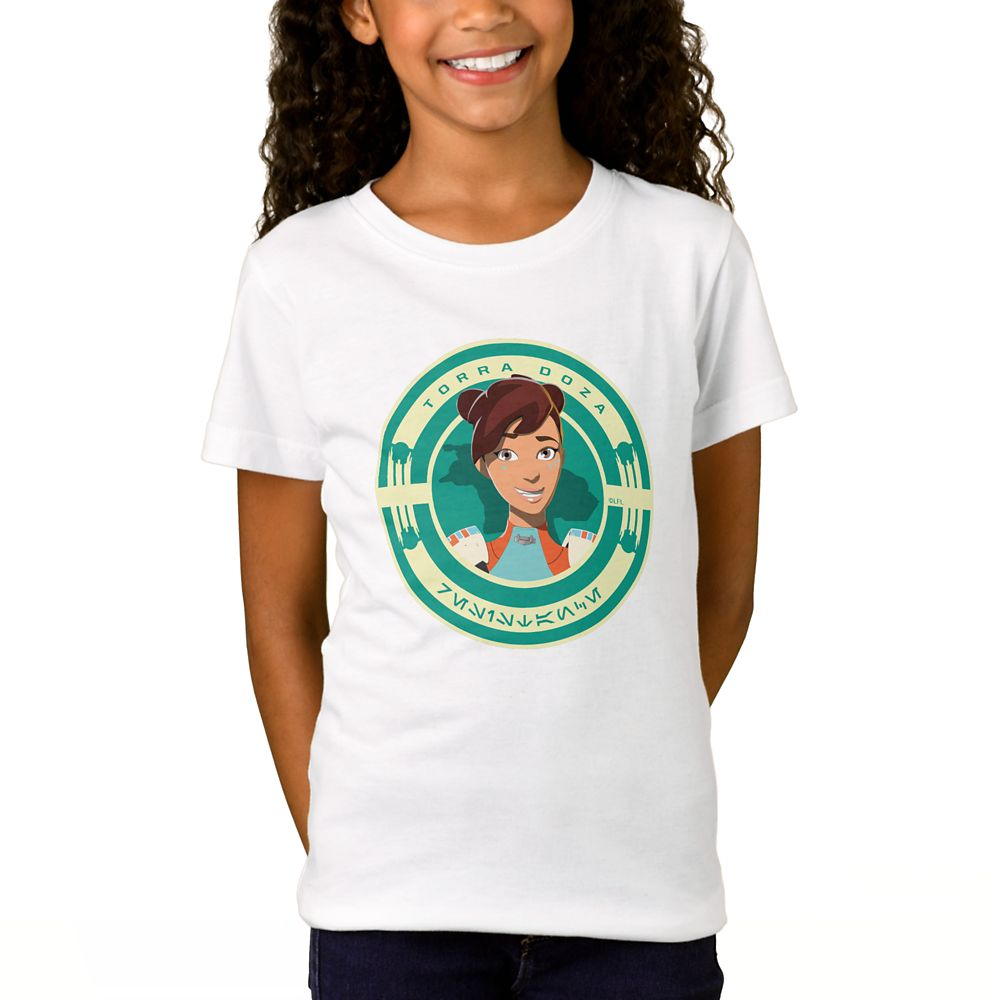 shopdisney.com - Torra Doza T-Shirt for Girls  Star Wars: Resistance  Customized Official shopDisney 18.95 USD