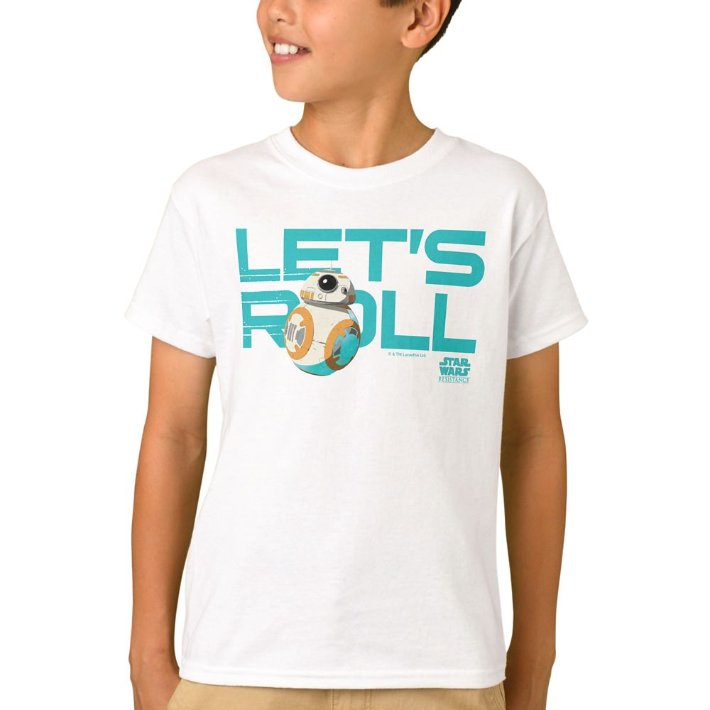 BB-8 Let's Roll T-Shirt for Boys – Star Wars – Customized