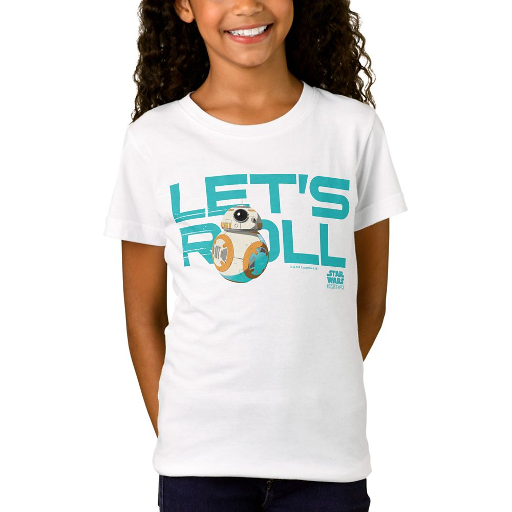 BB-8 Let's Roll T-Shirt for Girls – Star Wars – Customized