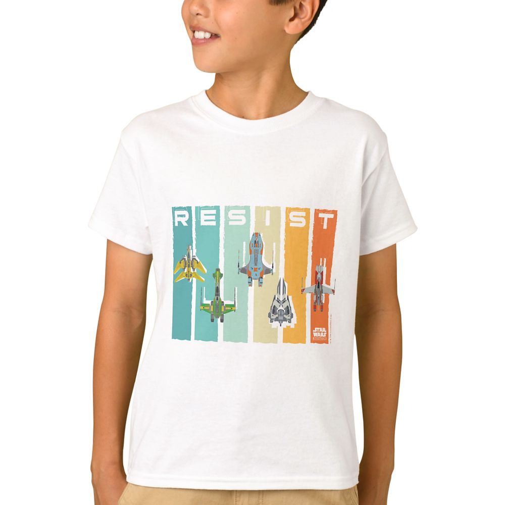 Star Wars Resistance: Vehicles T-Shirt for Boys – Customizable