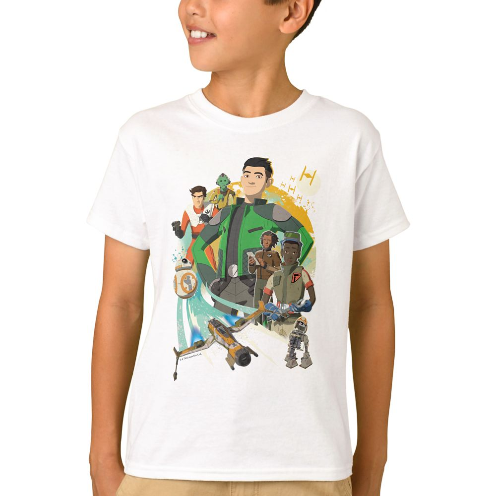 Star Wars Resistance: Team Fireball T-Shirt for Boys – Customizable