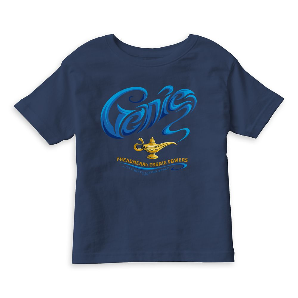 Genie ''...Itty-Bitty Living Space'' T-Shirt for Boys  Aladdin  Live Action Film  Customized Official shopDisney