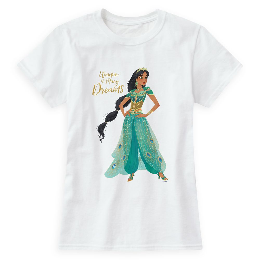Jasmine''Woman of Many Dreams'' T-Shirt for Women  Aladdin  Live Action Film  Customized Official shopDisney