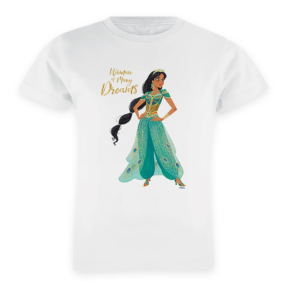 Jasmine''Woman of Many Dreams'' T-Shirt for Girls – Aladdin – Live Action Film – Customized