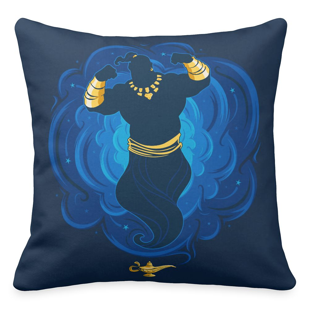Genie Emerging from Lamp Throw Pillow – Aladdin – Live Action Film – Customized