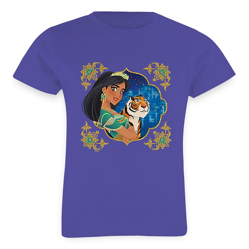 Jasmine and Raja Jewelled Graphic T-Shirt for Girls  Aladdin  Live Action Film  Customized Official shopDisney