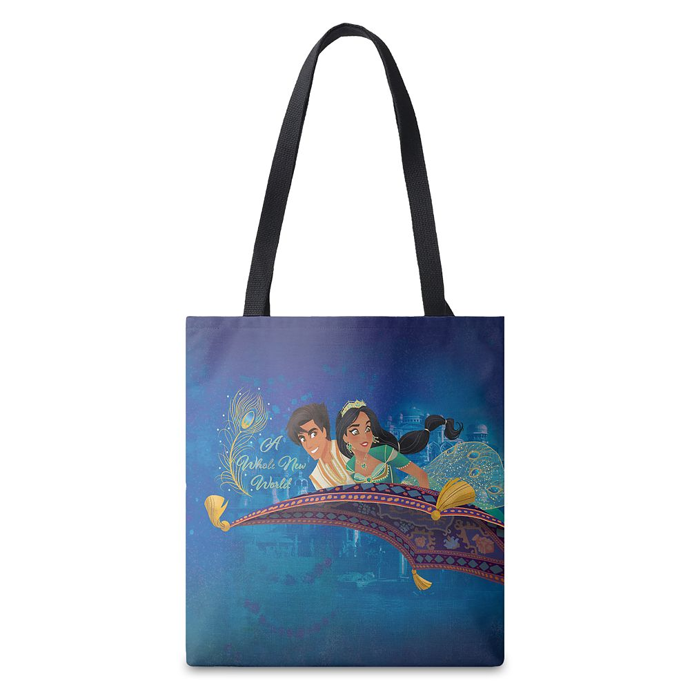 Aladdin ''A Whole New World'' Tote Bag  Live Action Film  Customized Official shopDisney