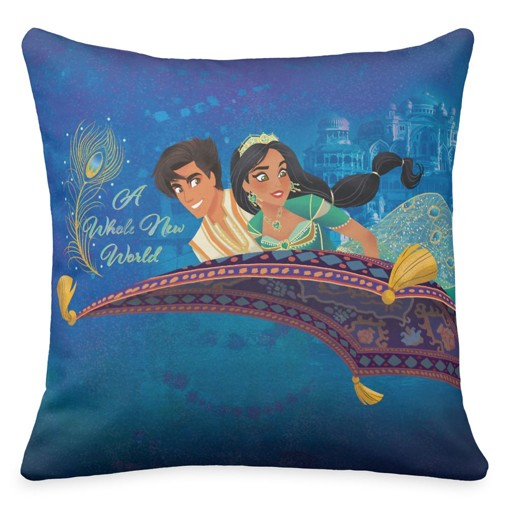 Aladdin ''A Whole New World'' Throw Pillow – Live Action Film – Customized