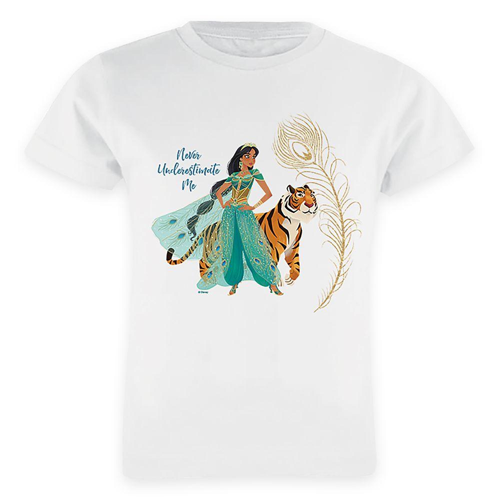Jasmine and Raja ''Never Underestimate Me'' T-Shirt for Girls – Aladdin – Live Action Film – Customized