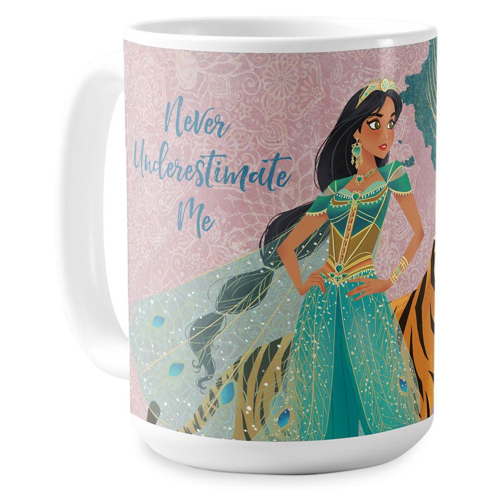 Jasmine and Raja ''Never Underestimate Me'' Coffee Mug  Aladdin  Live Action Film  Customized Official shopDisney