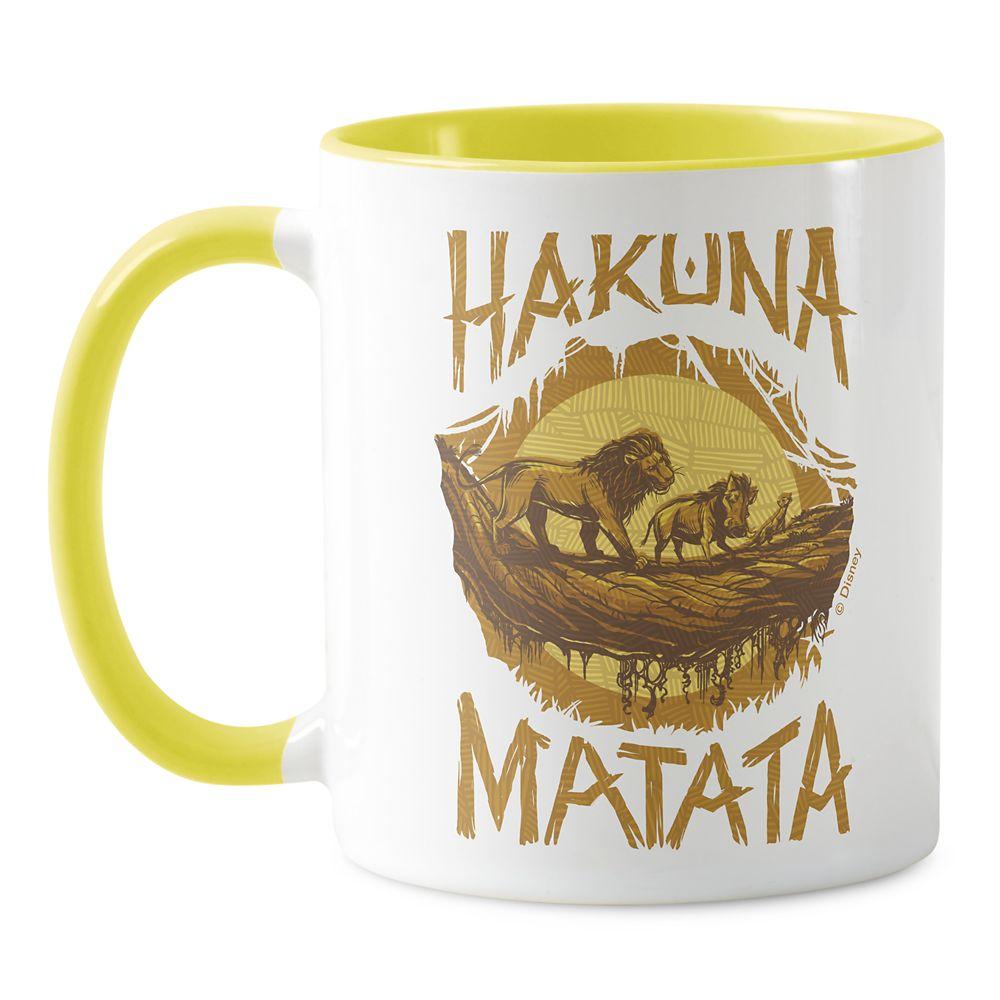 ''Hakuna Matata'' Woodcut Design Mug – The Lion King 2019 Film – Customized