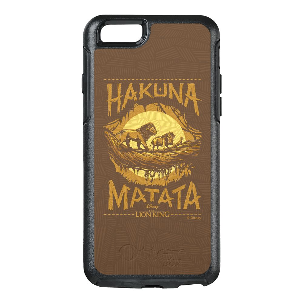 ''Hakuna Matata'' Woodcut Design OtterBox iPhone 8/7 Case – The Lion King 2019 Film – Customized