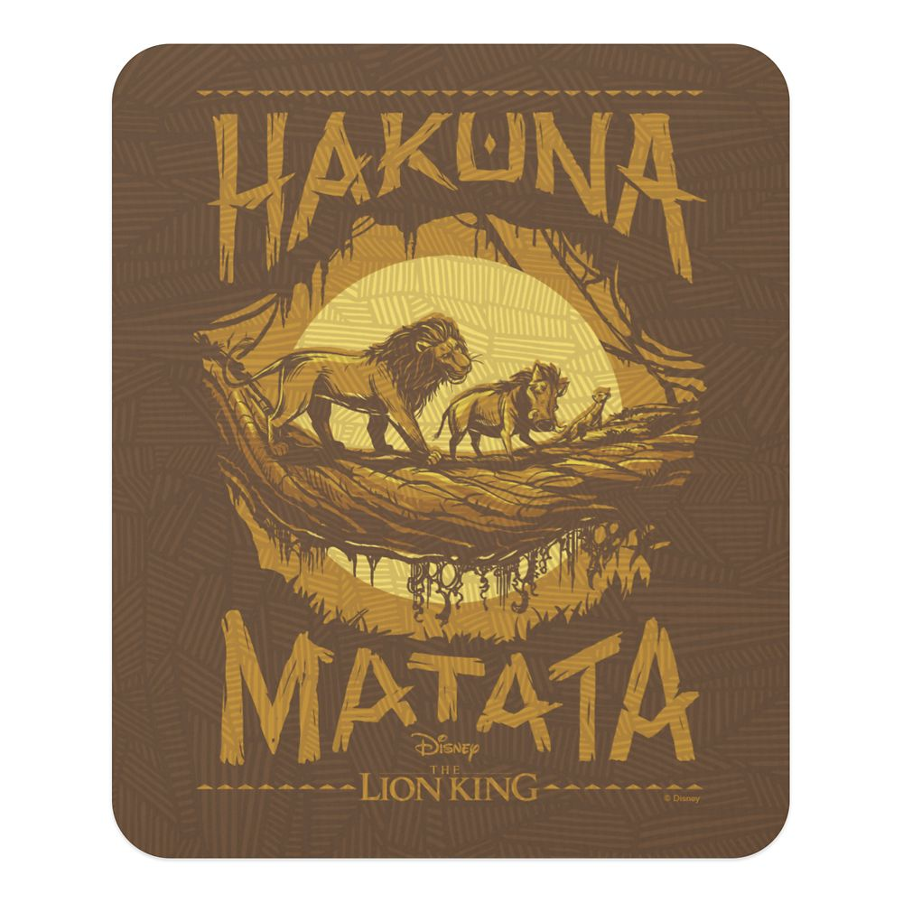 ''Hakuna Matata'' Woodcut Design Mouse Pad – The Lion King 2019 Film – Customized