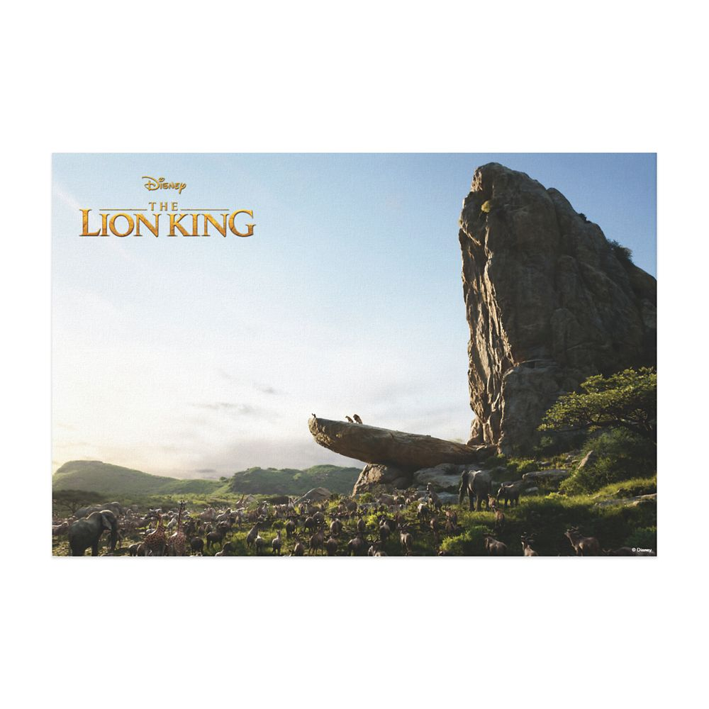 Simba Presented to Kingdom Canvas Print – The Lion King 2019 Film – Customized