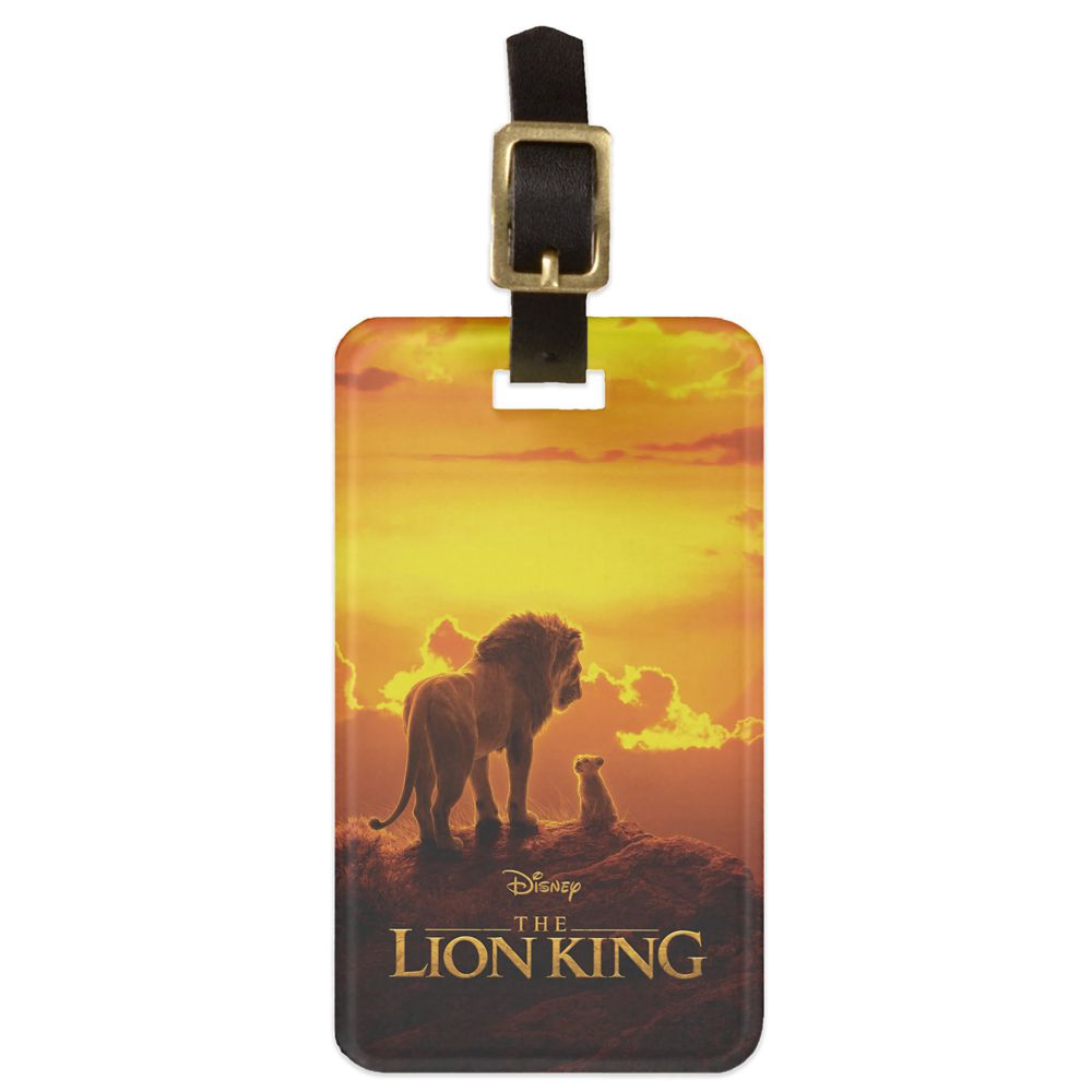 Mufasa and Simba at Sunset Bag Tag  The Lion King 2019 Film  Customized Official shopDisney