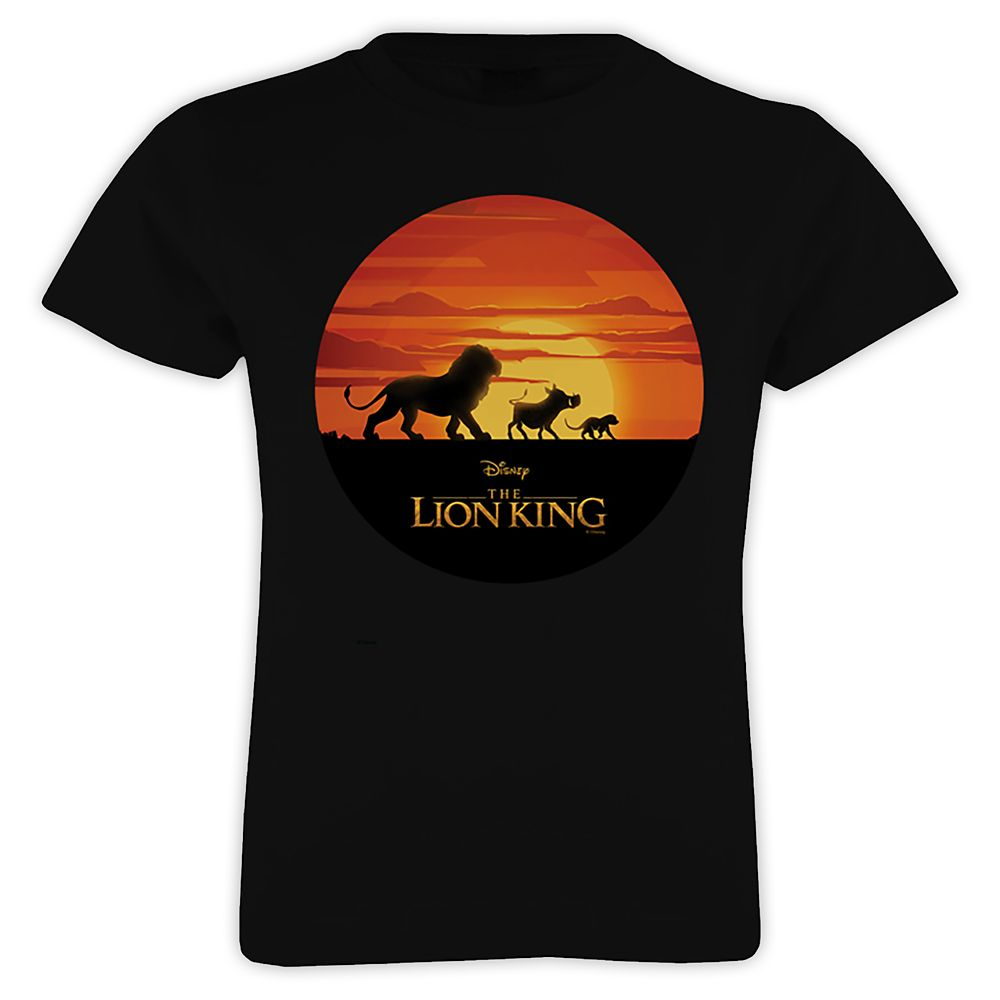 Simba, Pumbaa, and Timon Silhouette T-Shirt for Girls – The Lion King 2019 Film – Customized