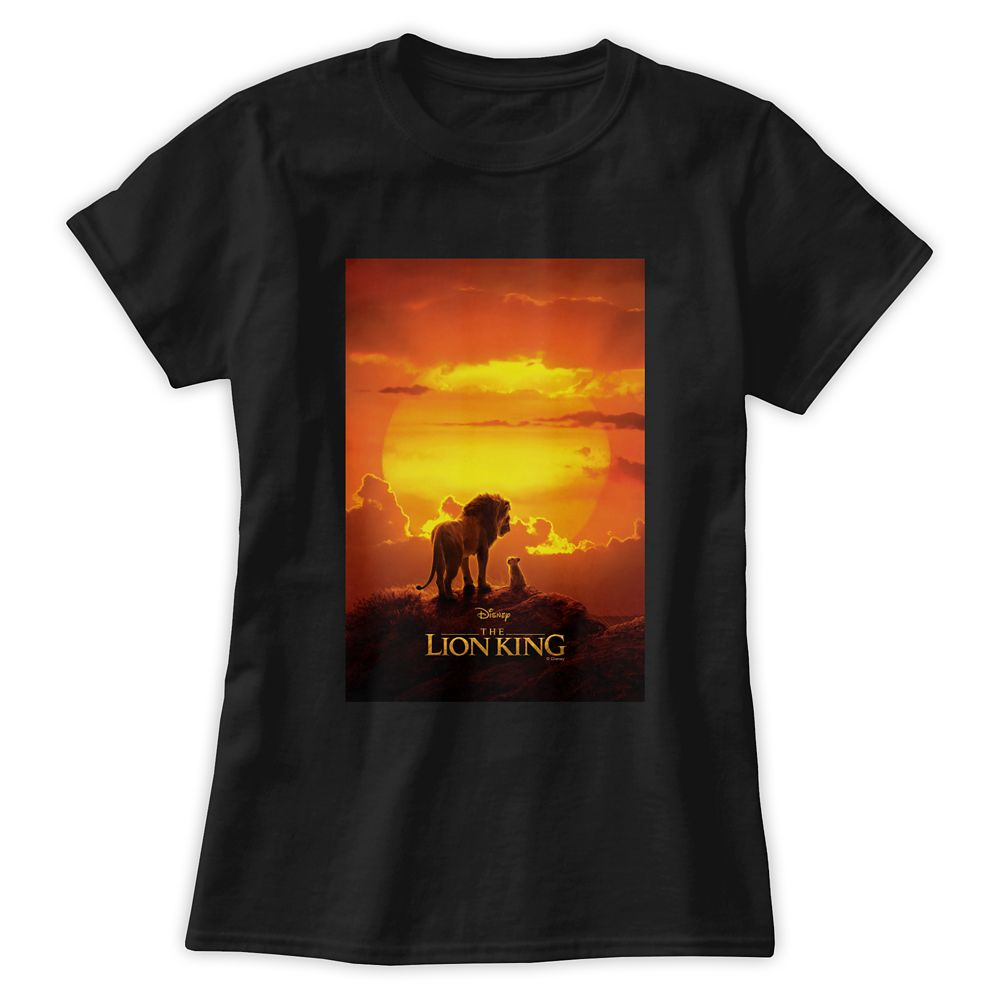 Mufasa and Simba at Sunset T-Shirt for Women  The Lion King 2019 Film  Customized Official shopDisney