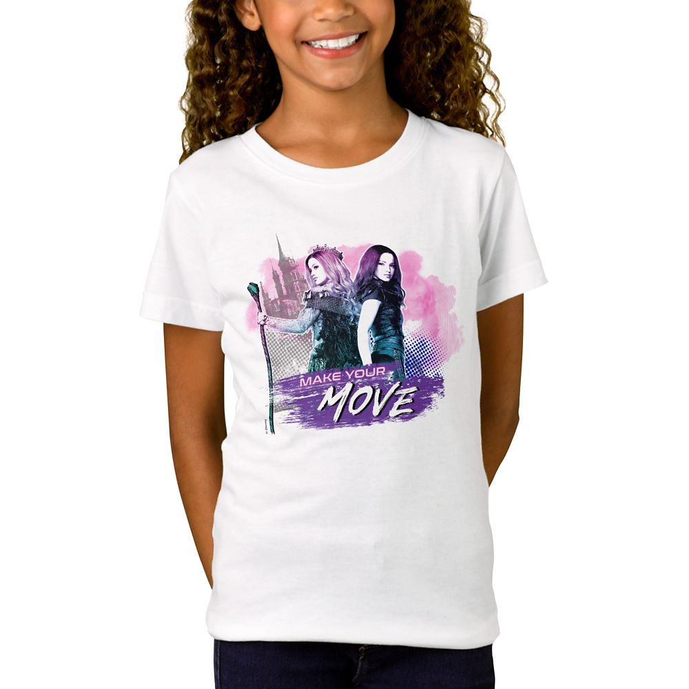 Mal and Audrey T-Shirt for Girls – Descendants 3 – Customized