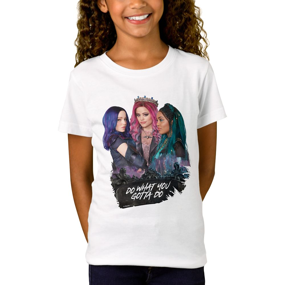 Mal, Uma, and Audrey T-Shirt for Girls – Descendants 3 – Customized