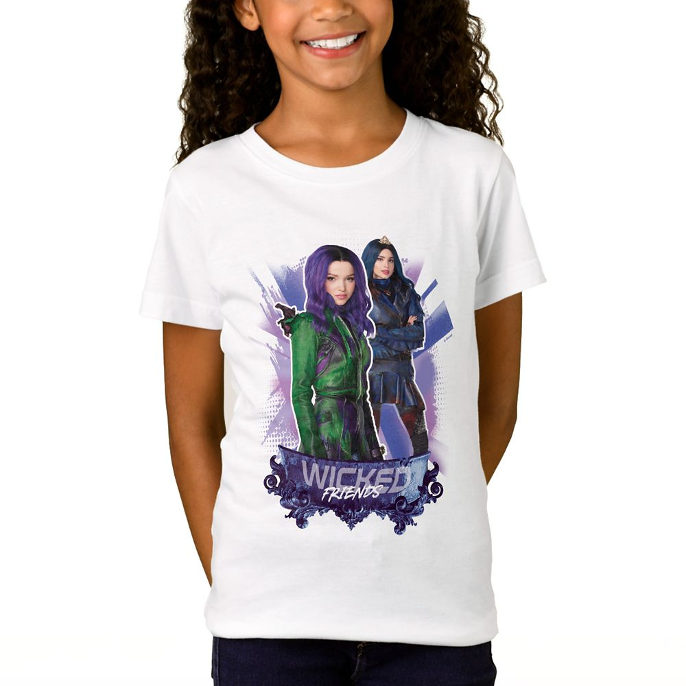 Mal & Evie: Wicked Friends T-Shirt for Girls  Descendants 3  Customized Official shopDisney