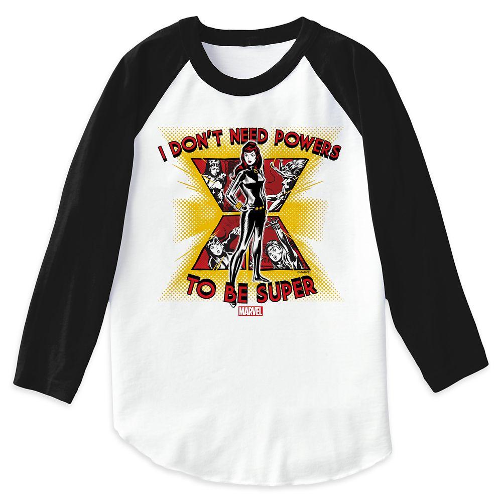 Black Widow ''I Don't Need Powers'' Raglan T-Shirt for Women – Customizable