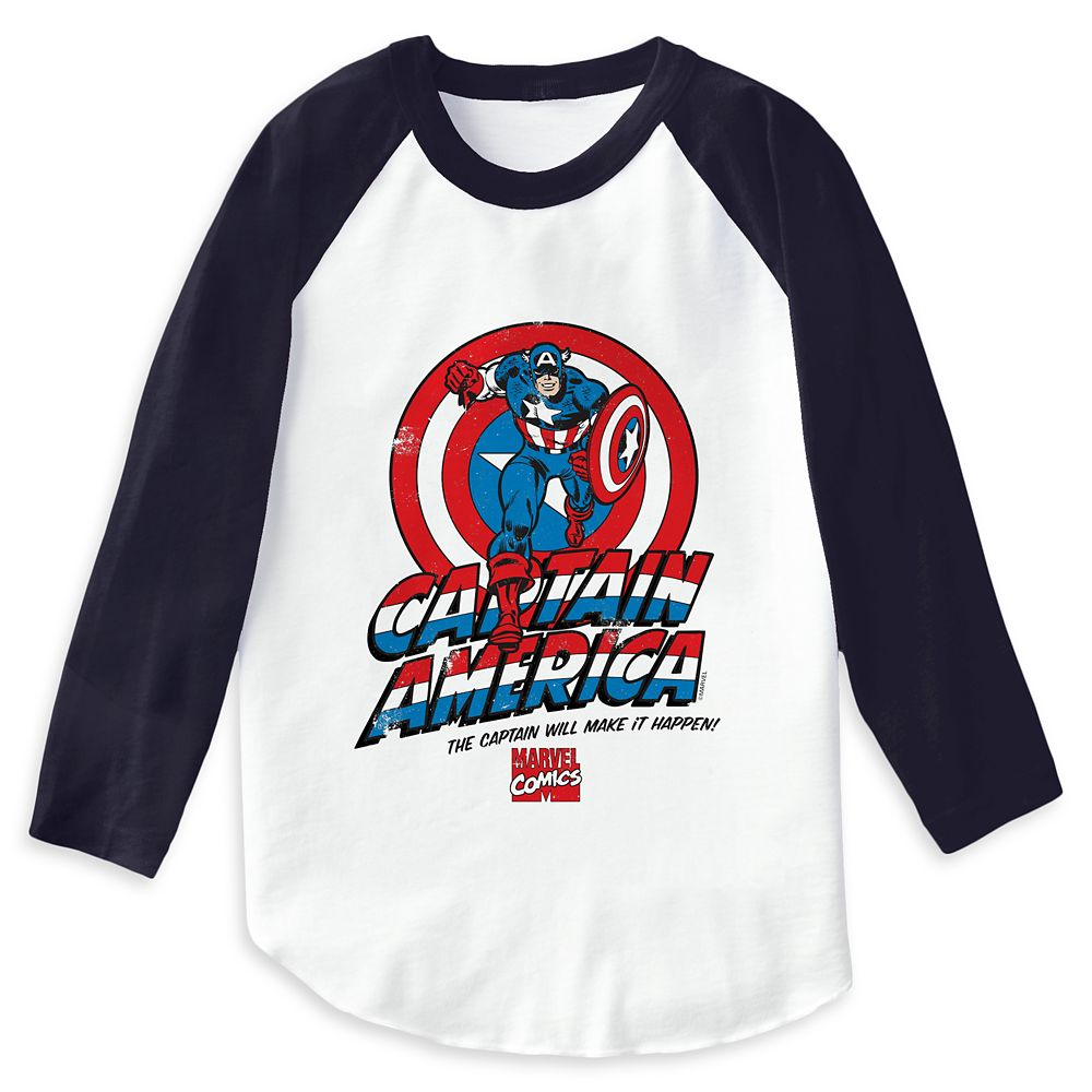 Captain America: ''The Captain Will Make It Happen'' Raglan T-Shirt for Men – Customizable