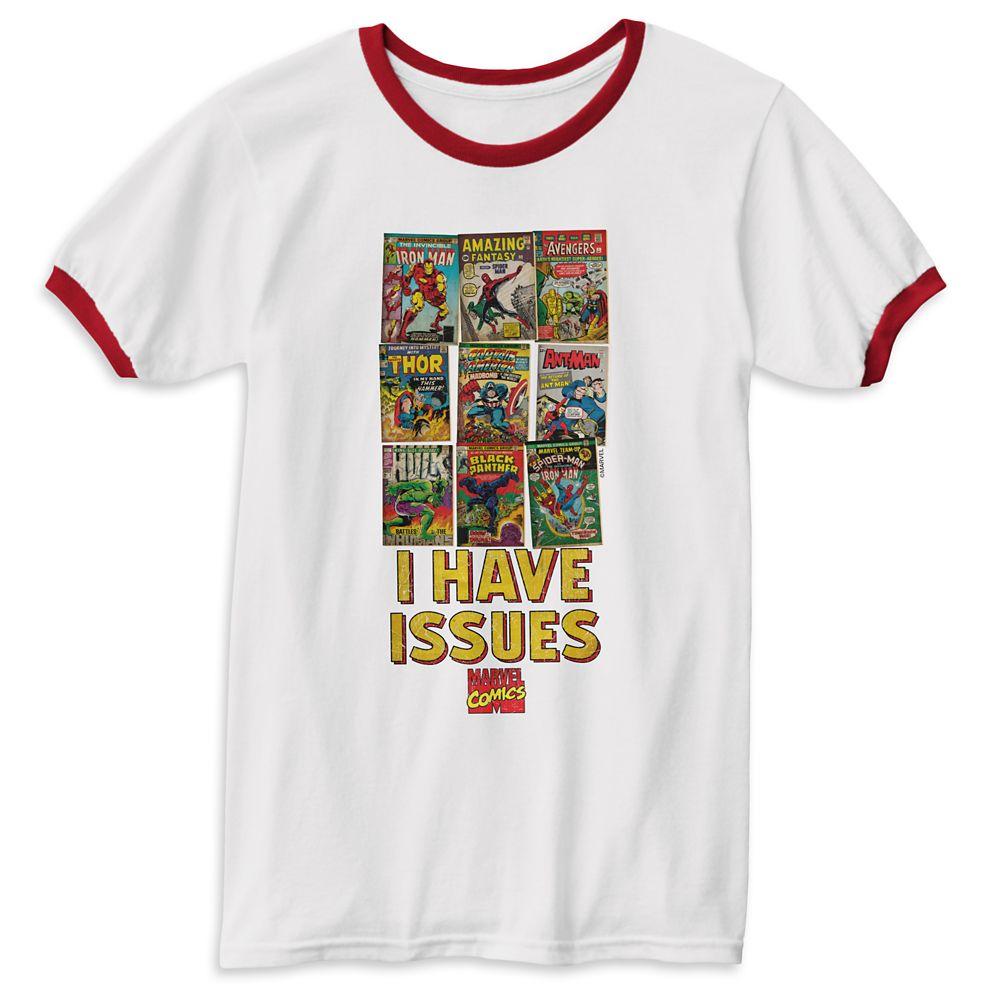 Marvel Comics ''I Have Issues'' Ringer T-Shirt for Men – Customizable