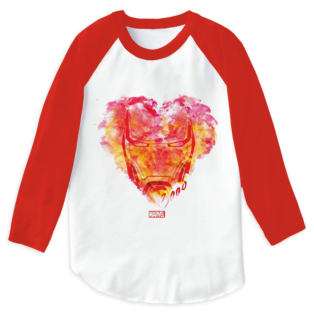 Iron Man: Watercolor Heart Raglan T-Shirt for Men – Customizable