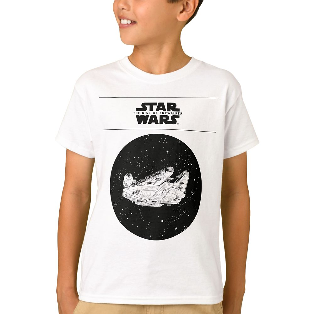 Millennium Falcon in Space T-Shirt for Boys – Star Wars: The Rise of Skywalker – Customizable