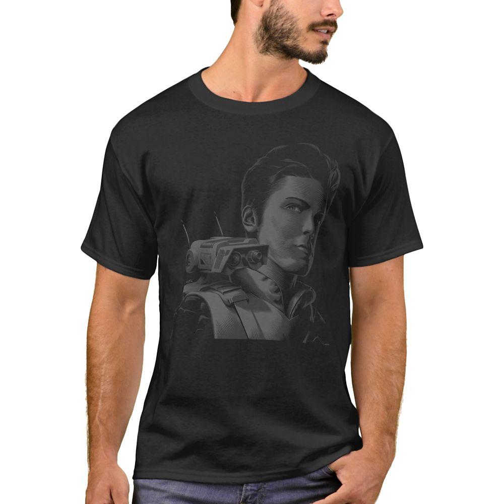Cal Kestis & BD-1 Outline T-Shirt for Men – Star Wars: The Rise of Skywalker – Customizable