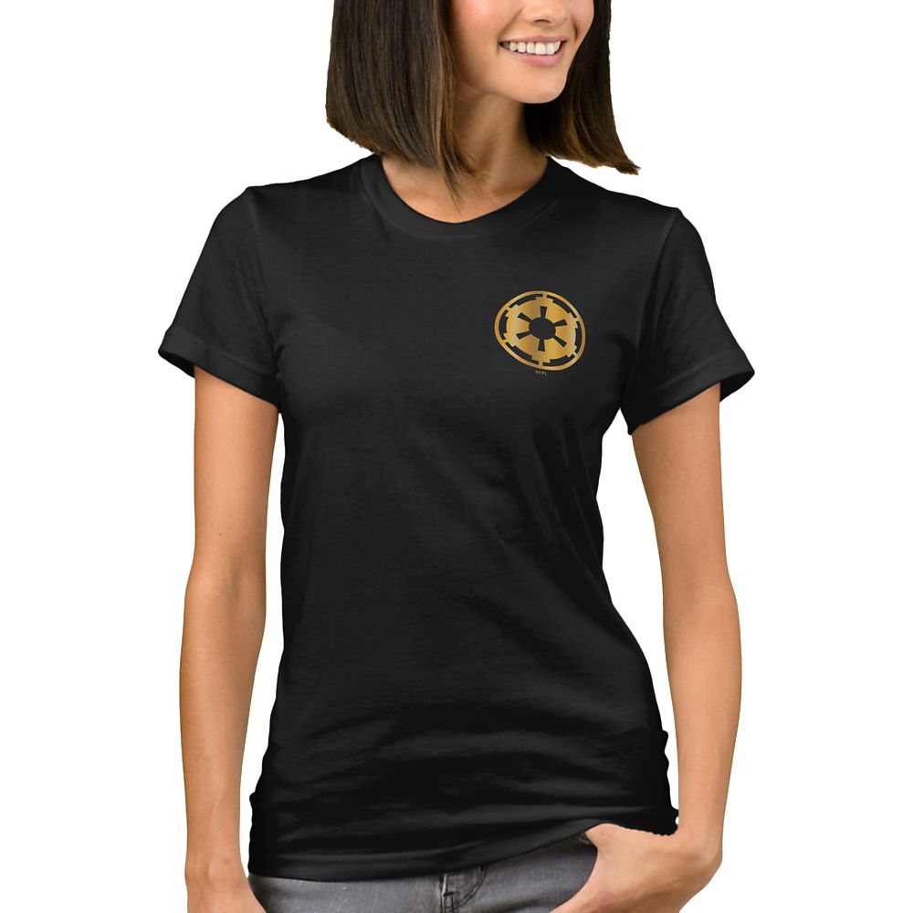Gold Imperial Symbol T-Shirt for Women – Star Wars: The Rise of Skywalker – Customizable