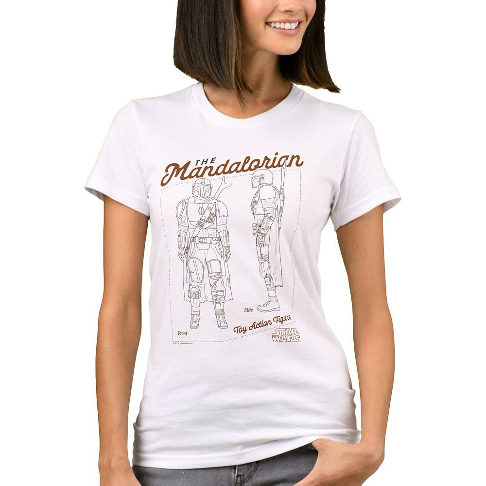 The Mandalorian Action Figure Diagram T-Shirt for Women – Star Wars – Customizable
