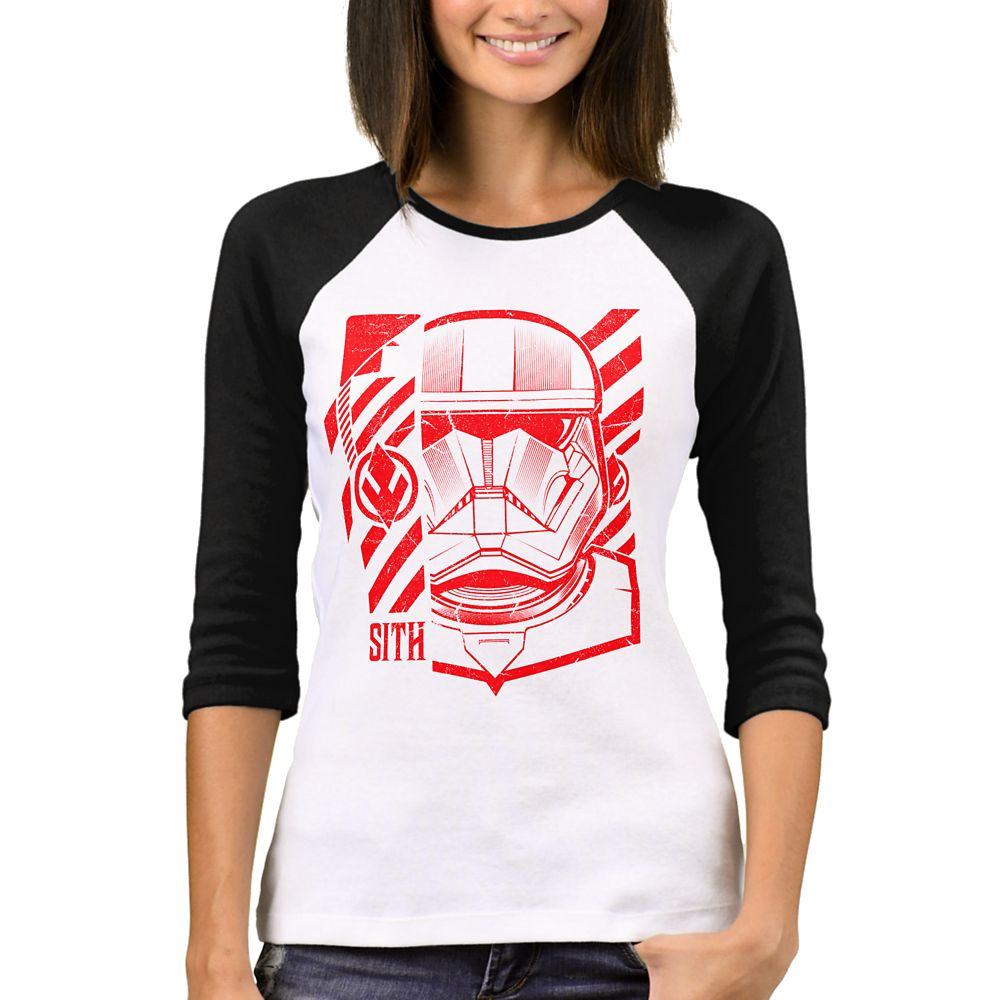 Star Wars D23 Expo 2019 Limited Release Sith Trooper Raglan T-Shirt for Women – Customizable
