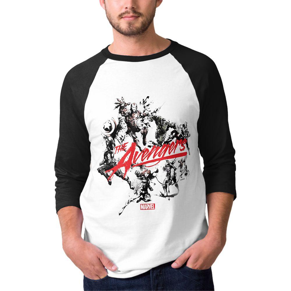 Marvel D23 Expo 2019 The Avengers Brush Art Raglan T-Shirt for Men – Customizable