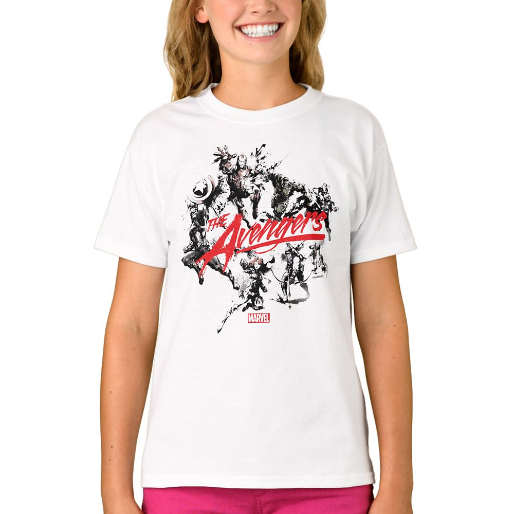 Marvel D23 Expo 2019 The Avengers Brush Art T-Shirt for Girls – Customizable