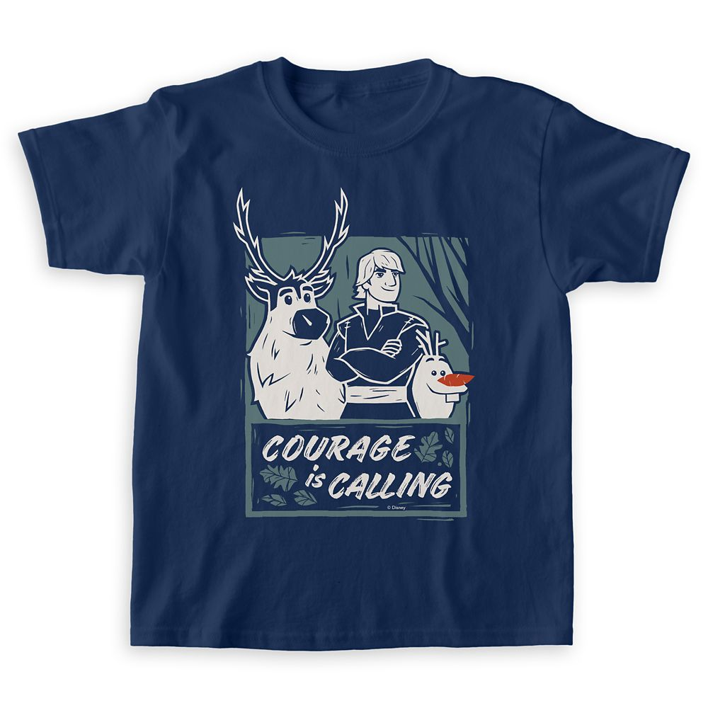 Sven, Kristoff & Olaf ''Courage is Calling'' T-Shirt for Boys  – Frozen 2 – Customizable