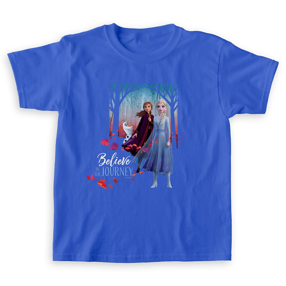 Elsa, Anna & Olaf ''Believe in the Journey'' T-Shirt for Girls – Frozen 2 – Customizable