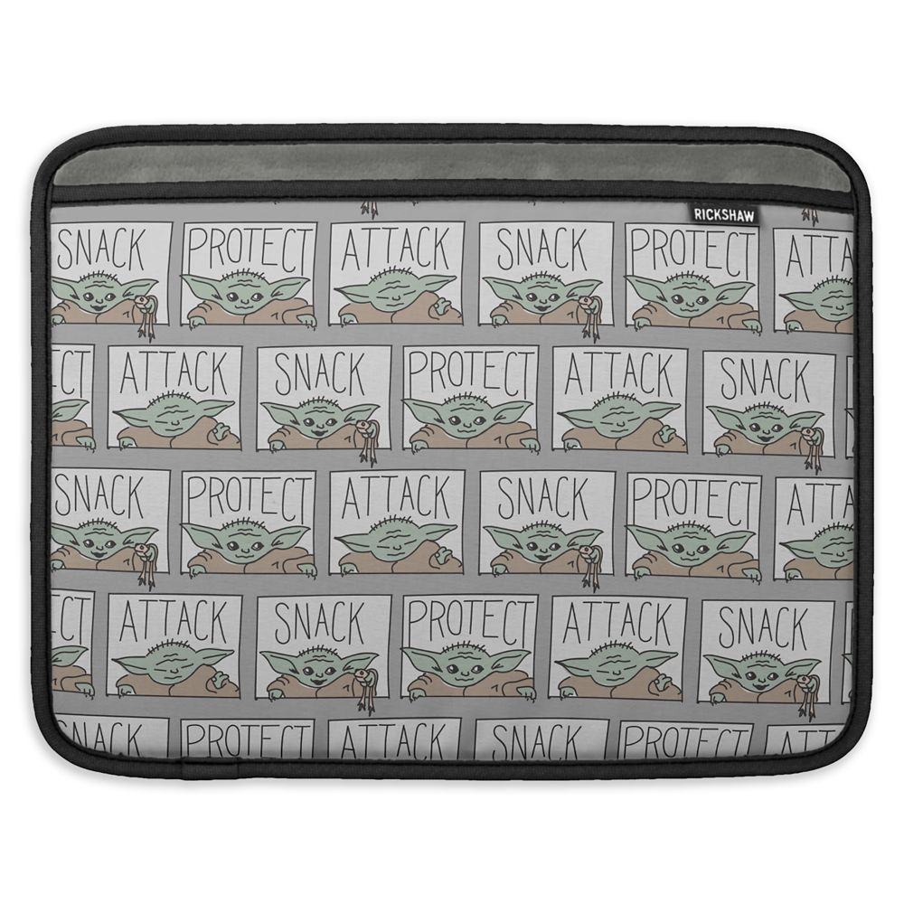 The Child: He Protect He Attack He Snack MacBook Air Sleeve – Star Wars: The Mandalorian – Customized