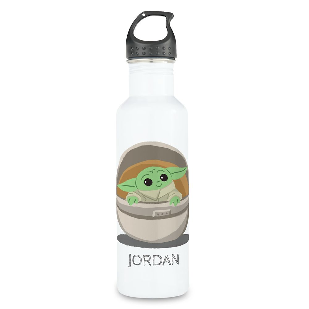 The Child: Cartoon Drawing Stainless Steel Water Bottle – Star Wars: The Mandalorian – Customized
