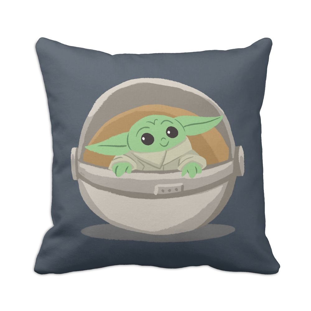 The Child: Cartoon Drawing Throw Pillow – Star Wars: The Mandalorian – Customized