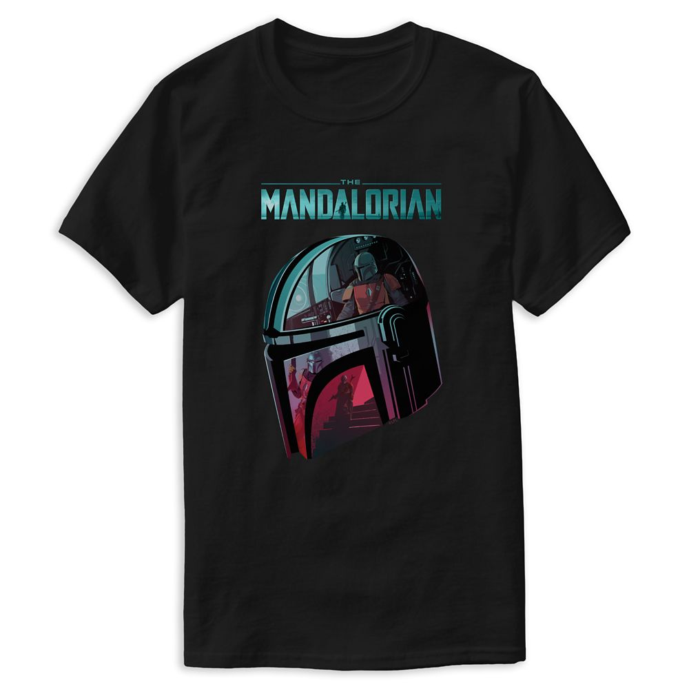 The Mandalorian Helmet Reflections Collage T-Shirt for Men – Star Wars: The Mandalorian – Customized