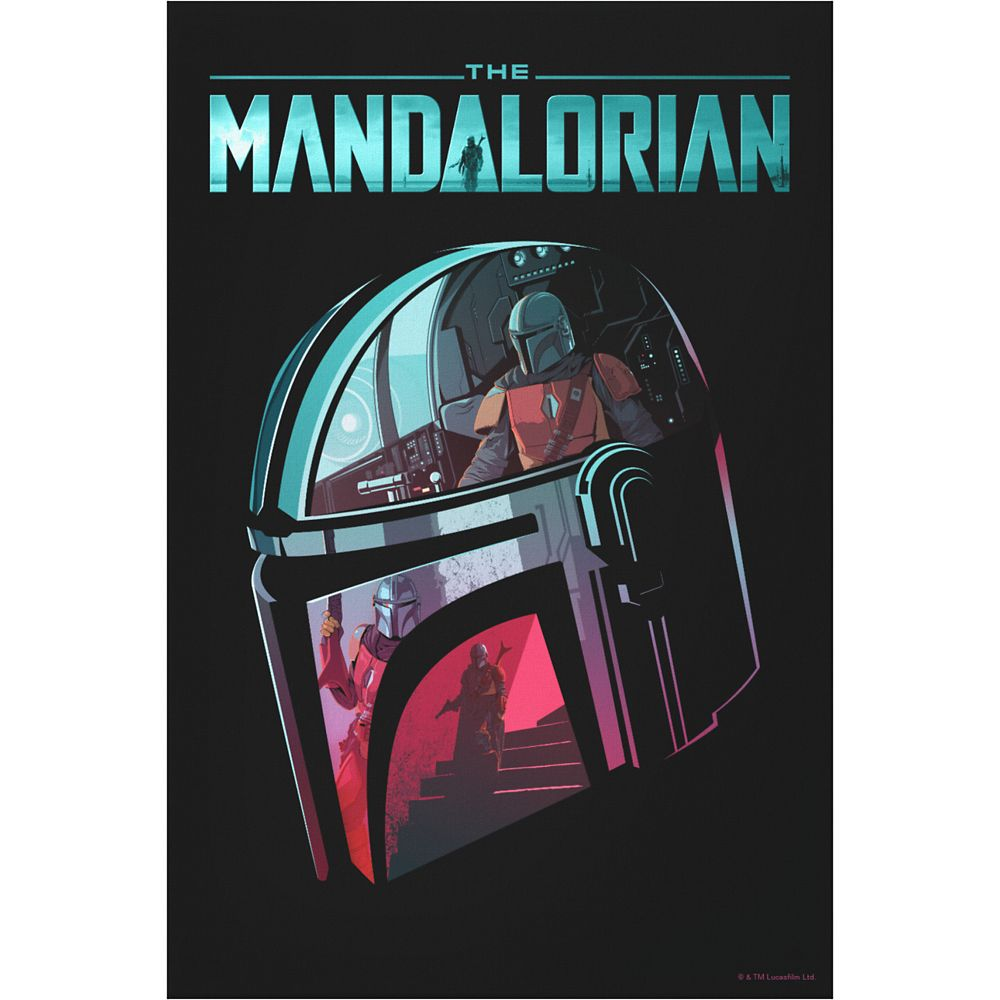 The Mandalorian Helmet Reflections Collage Canvas Print – Star Wars: The Mandalorian – Customized