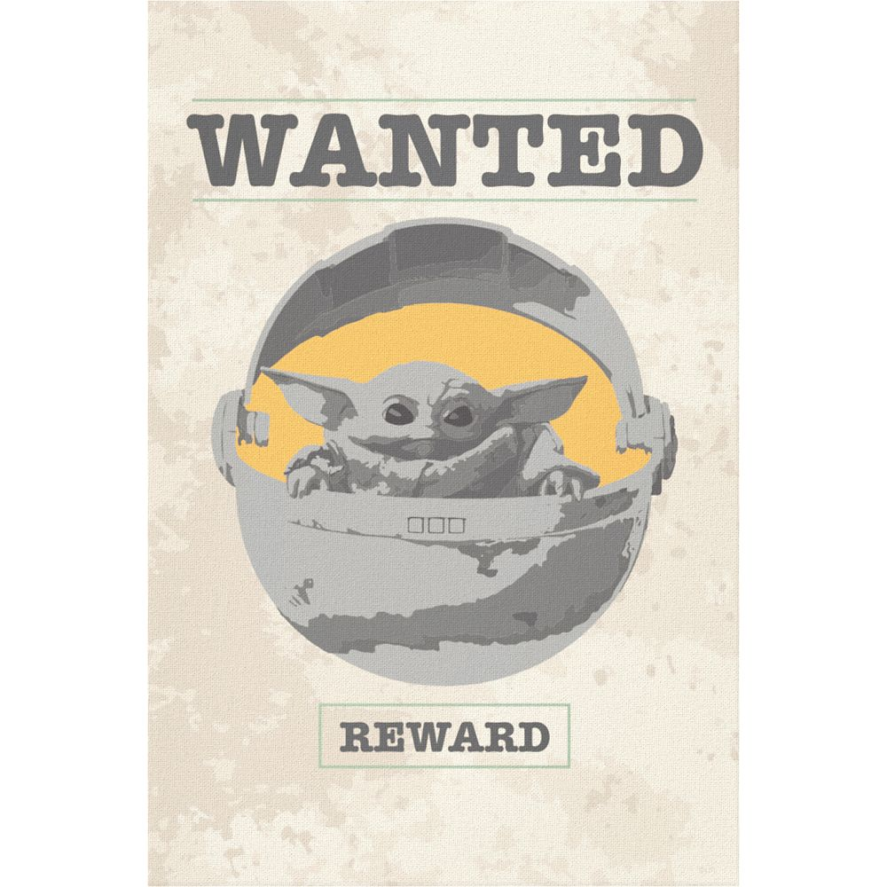 The Child Wanted Poster Canvas Print – Star Wars: The Mandalorian – Customized