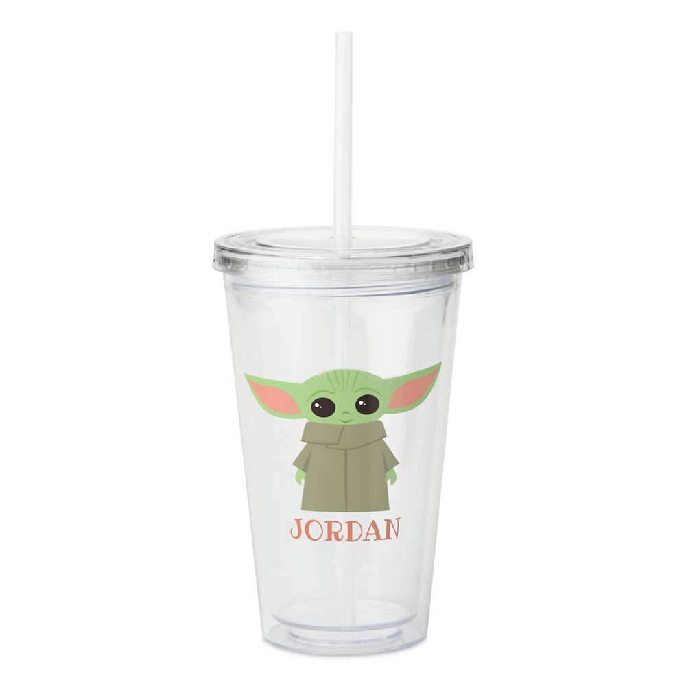 The Child Smiling Pastel Artwork Acrylic Tumbler – Star Wars: The Mandalorian – Customized