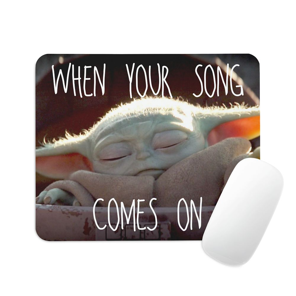 The Child When Your Song Comes On Mouse Pad – Star Wars: The Mandalorian – Customized