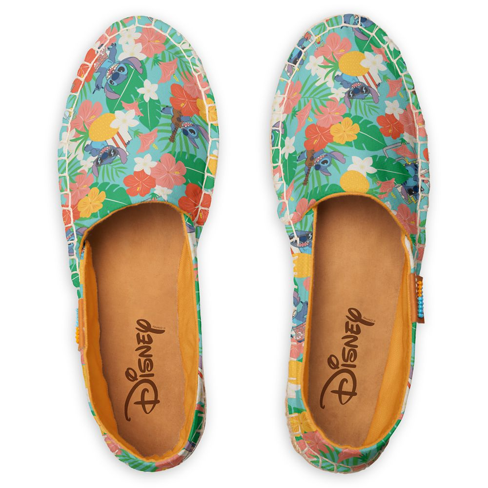 Lilo & Stitch Floral Beach Pattern Espadrilles for Women – Customizable