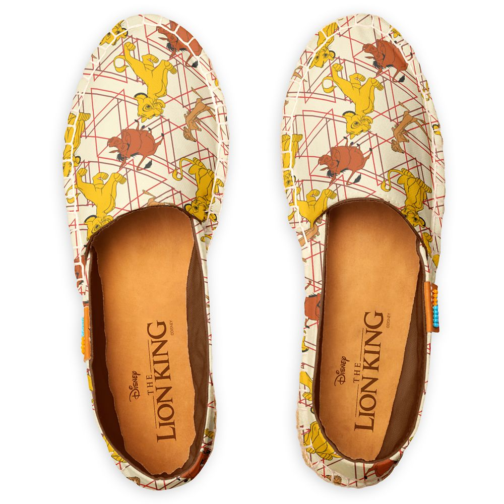 The Lion King – Simba, Timon, Pumbaa Geometric Pattern Espadrilles for Women – Customized