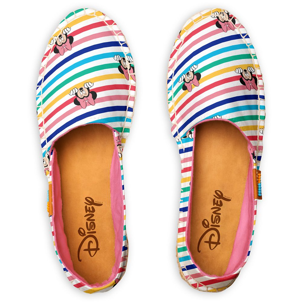 Minnie Mouse Peekaboo Rainbow Pattern Espadrilles for Women – Customized