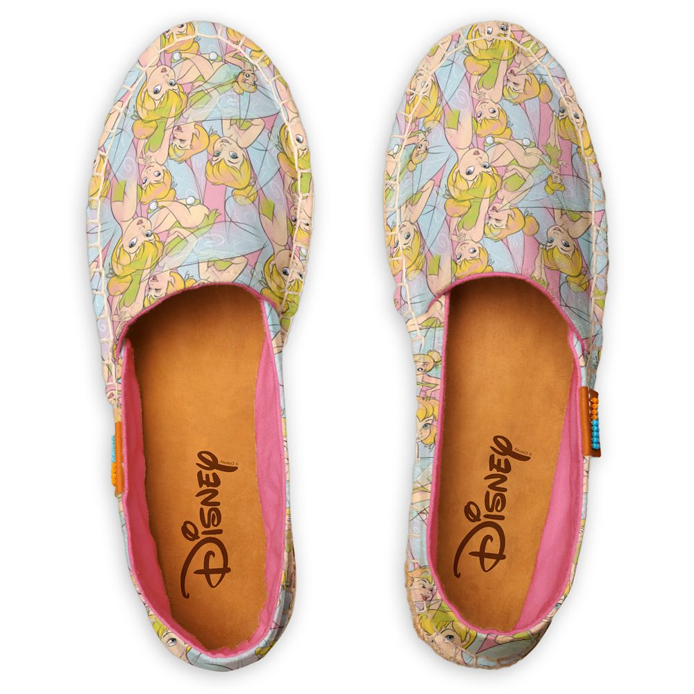 Tinker Bell Drawings Pattern Espadrilles for Women – Customized