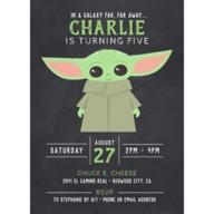 The Child Chalkboard Birthday Invitation – Star Wars: The Mandalorian – Customized